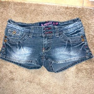 Juniors size 1 Angels distressed shorts